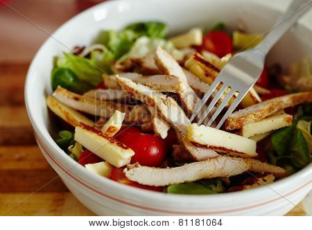 Turkey Breast Salad With Many Ingredients