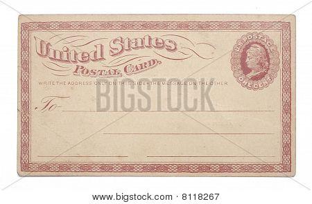 Vintage United States Once Cent Postcard