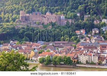 Heidelberg city skyline Germany