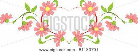 Heart flower wreath.