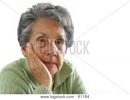 Elderly Woman's Portrait - Isolated