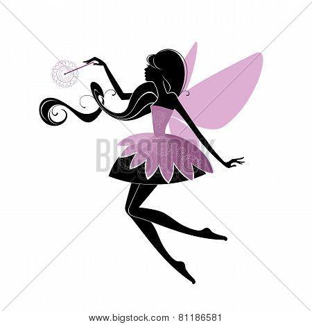 Portrait of a beautiful fairy