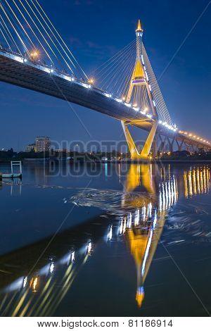 Water vortex under Industry Circle Bridge