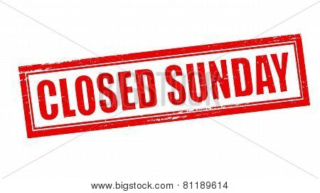 Closed Sunday