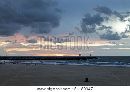 Sunset By Northern Sea