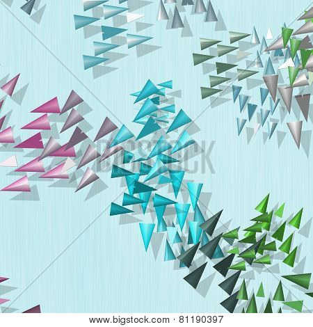 Abstract Rainbow Colored Spikes Wallpaper