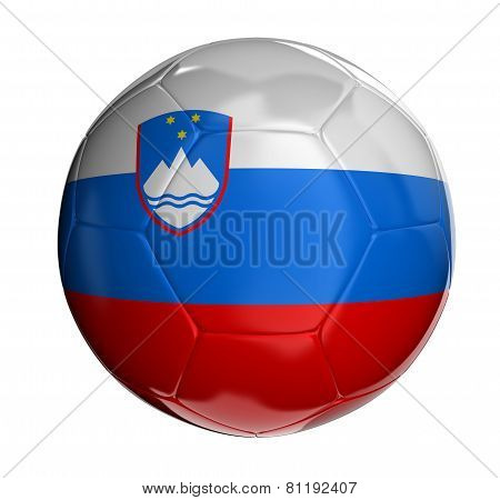 Soccer ball with Slovene flag