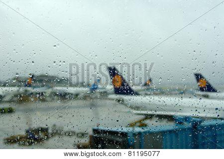 Airport Tarmac Rain