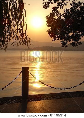 Beautiful Sunset Lake