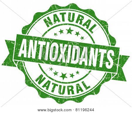 Antioxidants Green Vintage Isolated Seal