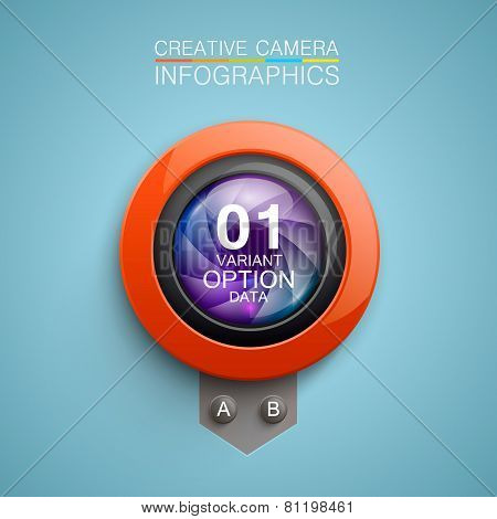 Photography camera icon background