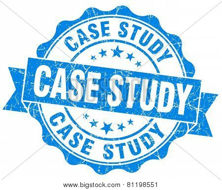 Case Study Blue Vintage Isolated Seal