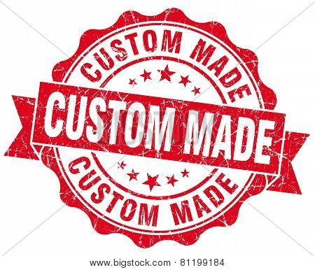 Custom Made Red Vintage Isolated Seal