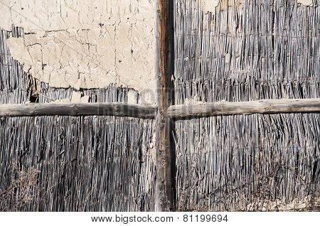 Wall of rural barn