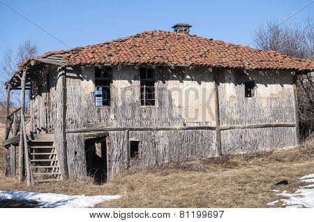 Old abandoned outbuilding
