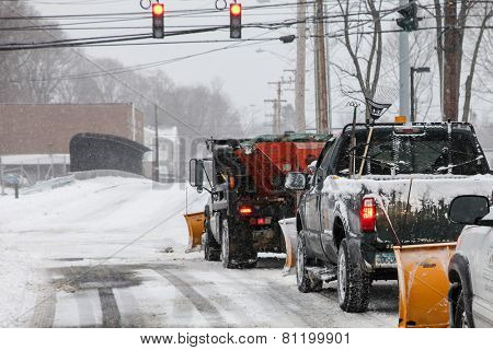 NORWALK,CT - JANUARY 27:  Car on North Taylor Ave after winter storm in Norwalk on January 27, 2015