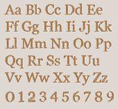 stock photo of alphabet  - Knitted Alphabet from grandma - JPG