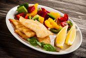 image of halibut  - Fish dish  - JPG