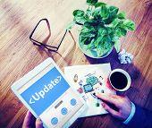picture of overhauling  - Digital Online Update Upgrade Office Working Concept - JPG