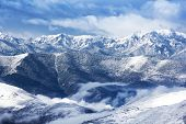 stock photo of arctic landscape  - view mountain snow landscape nature around the way to Huanglong - JPG