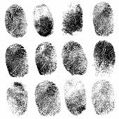 image of fingerprint  - Set of fingerprints - JPG