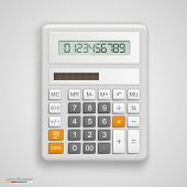 stock photo of calculator  - Vector illustration calculator tool - JPG