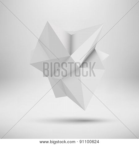 White Abstract Polygonal Shape