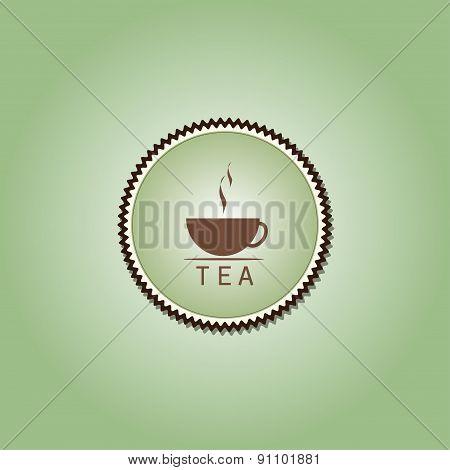 Tea Cup Time Concept Design Background