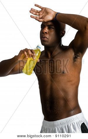 Athlete With Energy Drink