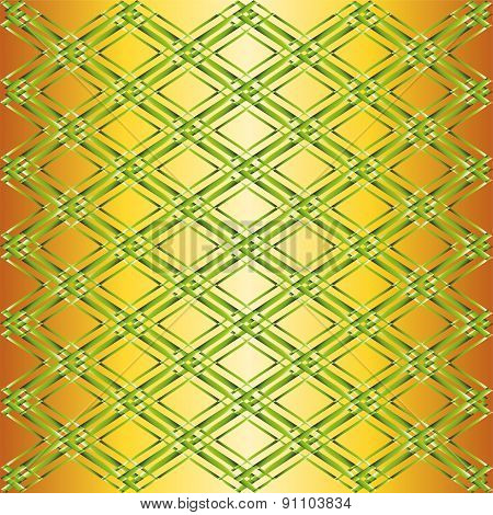 Vector green and yellow background