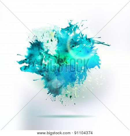 Abstract Watercolor Drawing Water Splash Element