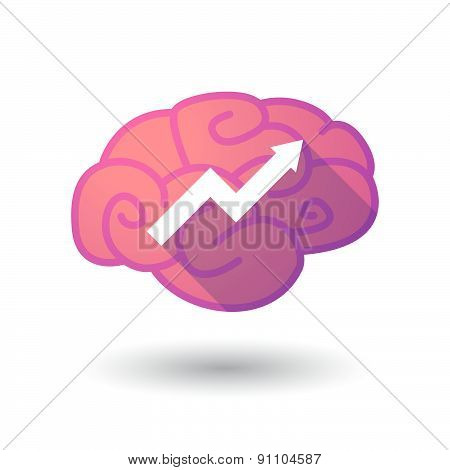 Brain Icon With A Graph