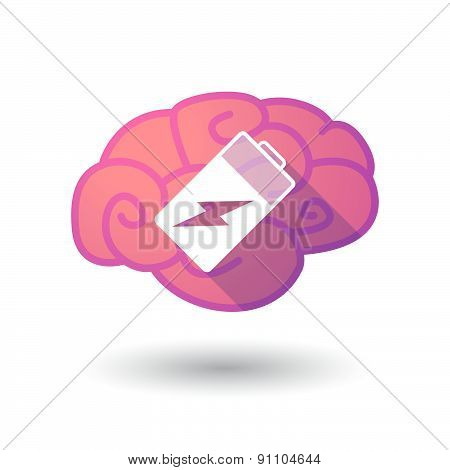 Brain Icon With A Battery
