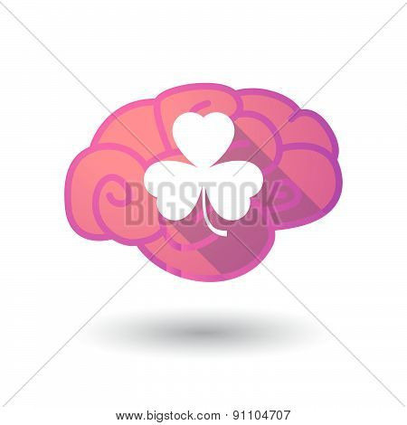 Brain Icon With A Flower