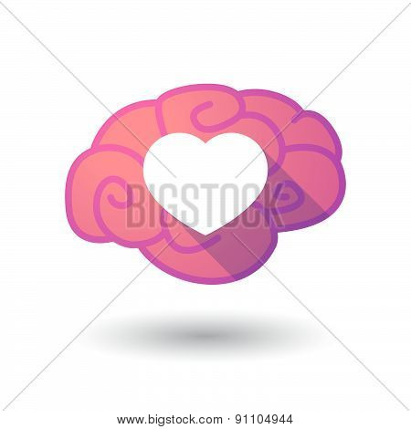 Brain Icon With A Heart