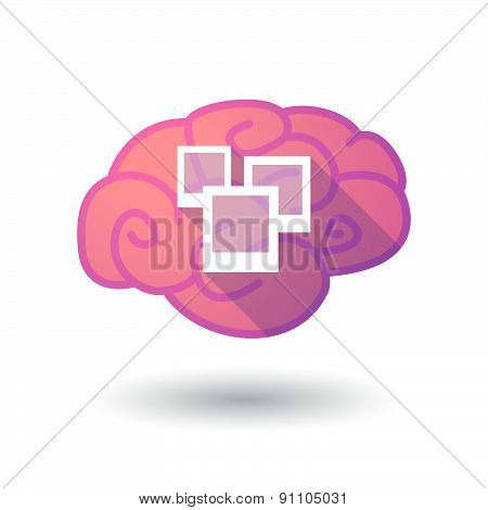 Brain Icon With A Photo Bunch