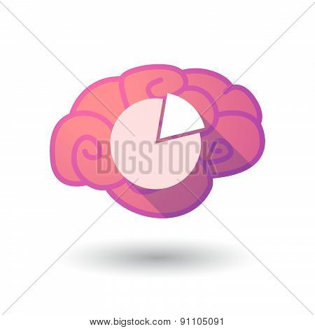 Brain Icon With A Pie Chart