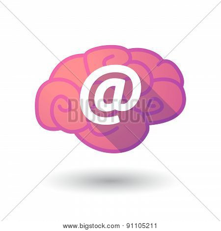 Brain Icon With An At Sign