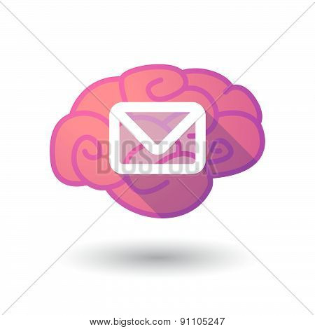 Brain Icon With An Envelope