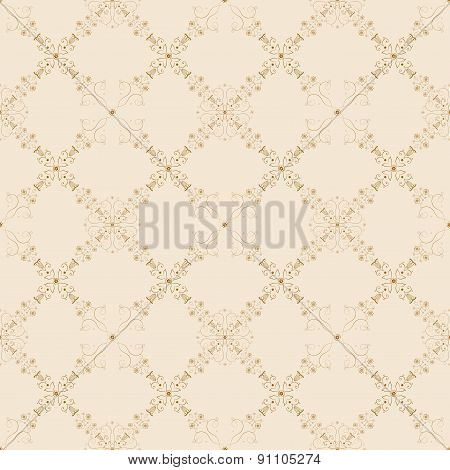 Baroque seamless floral background