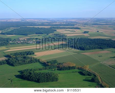 Aerial View Of Countryside  North Yonne