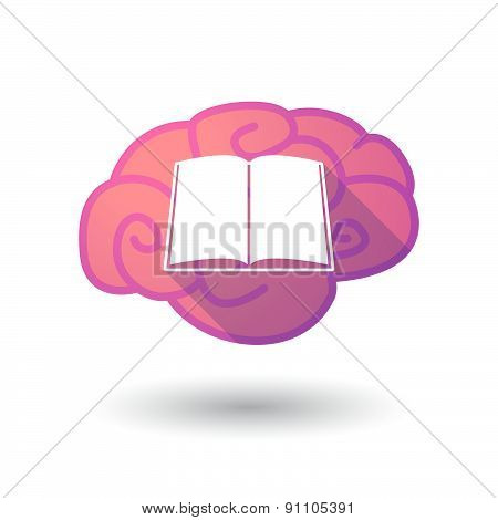 Brain Icon With A Book