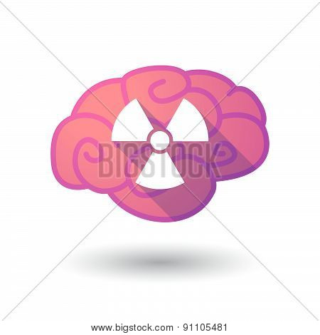 Brain Icon With A Radio Activity Sign