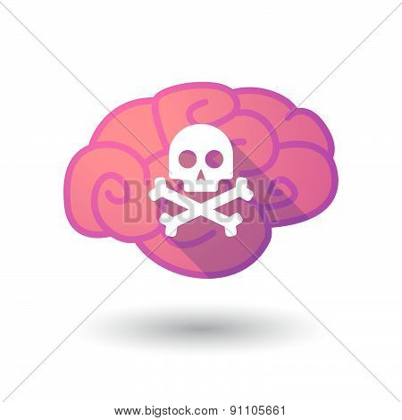 Brain Icon With A Skull