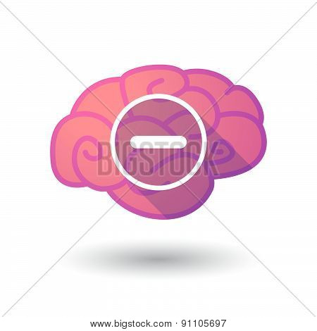 Brain Icon With A Subtraction Sign