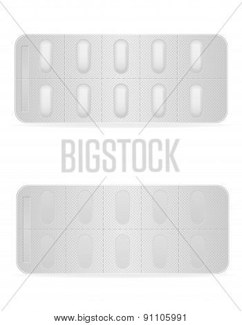 Medical Pills In Package For Treatment Vector Illustration