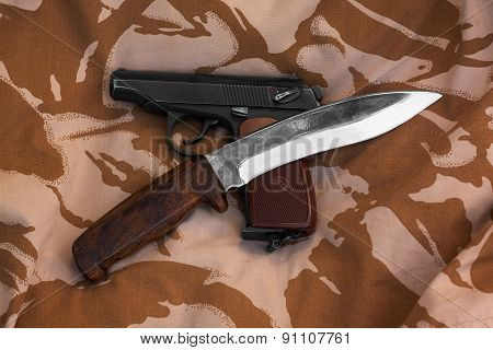 Gun And Knife