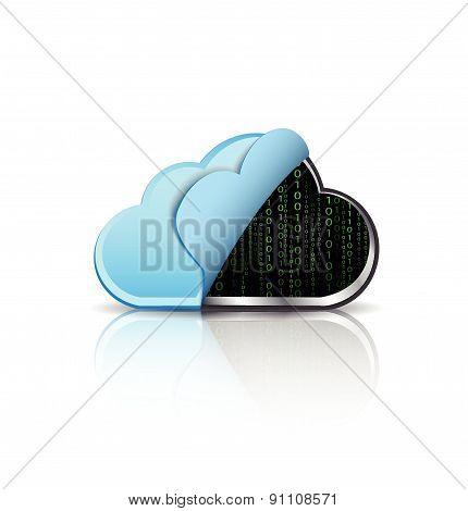 Cloud computing with binary code