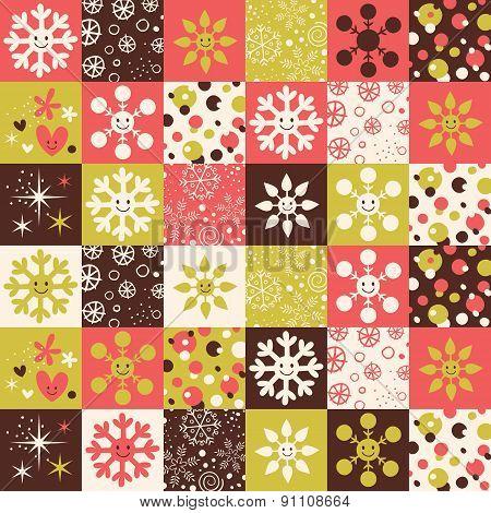 Snowflakes Christmas pattern