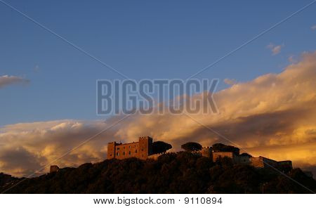 Castiglione Of The Pescaia And His Castle On The Hill